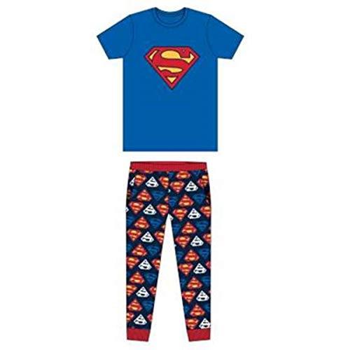 DC,SUPERMAN Herren Schlafanzug Blau blau Gr. Small, blau