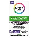 Rainbow Light Counter Attack Nighttime Immune Support Drink Mix with Elderberry, Vitamin C, Zinc, Magnolia and Melatonin in Elderberry-Citrus Flavor, 10 Packets