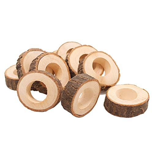 BESTONZON 10 unids Servilleteros madera retro vintage para boda fiesta de navidad y decoración de mesa