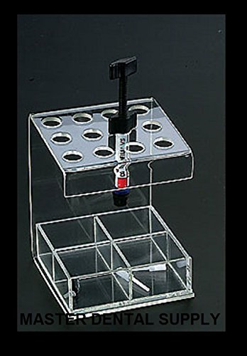 Composite Organizer and Accesories Holder. Holds 12 Composites Inlcudes 4 Comparmet Box for Accesories CLEAR PREMIUM Type