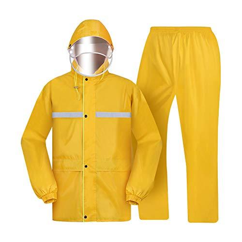 Split regenjas pak - super reflecterende strip - 100% waterdicht ontwerp - dubbele pet - oversized zak ontwerp - mannen en regenjas regenbroek