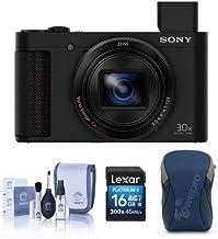 Sony Cybershot DSC-HX80 Digital Camera, Black - Bundle with 16GB SDHC Card, Camera Case, Cleaning KIt