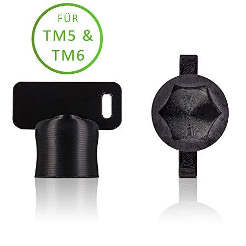 Der TeigTurner von Qitchen - Teiglöser für Thermomix TM6 und TM5 - Die Drehhilfe für Ihre Küchenmaschine von Vorwerk | Unsere Messerdrehhilfe als optimales Thermomix Zubehör (Schwarz)