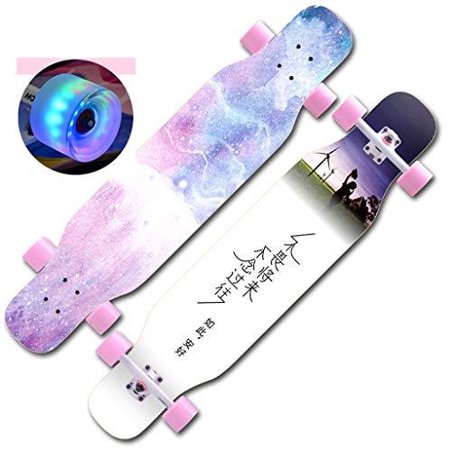 HCH Tabla Skate Principiantes Tabla Skate Cuatro Ruedas