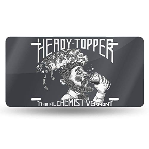 MYGEDie Heady Topper Retro-Nummernschilder für die Autodekoration 6 in X 12 in
