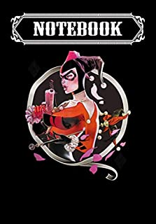 Notebook: Harley Quinn Harley Q Zip, Journal 6 x 9, 100 Page Blank Lined Paperback Journal/Notebook