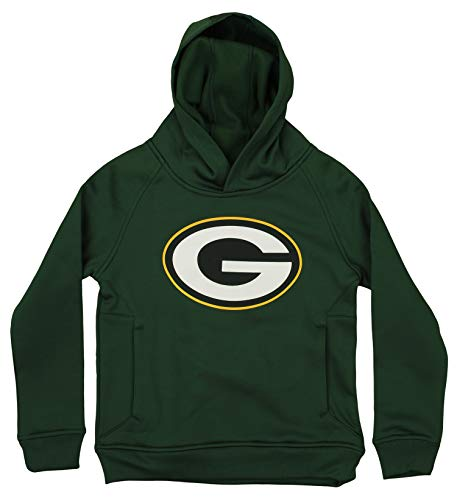 Outerstuff NFL Youth Green Bay Packers Performance Team Logo Hoodie, Green>