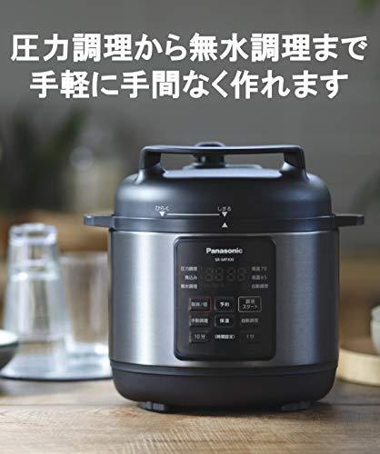 パナソニック 電気圧力鍋 時短なべ 3L ブラック (圧力、低温、無水、煮込、自動調理) SR-MP300-K