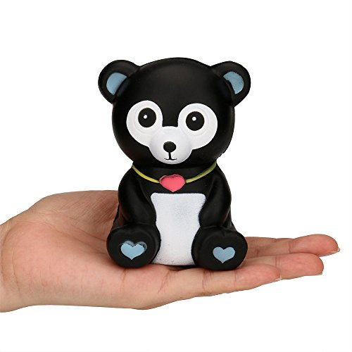Hot Sale!! Squishy Toy, ZOMUSAR Squeeze Black Bear Cream Bread Scented Slow Rising Toys Phone Charm Gifts (As Show)