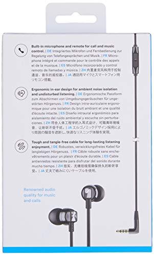 Sennheiser CX 300S In-Ear-Kopfhörer mit EIN-Knopf-Smart-Fernbedienung, Schwarz