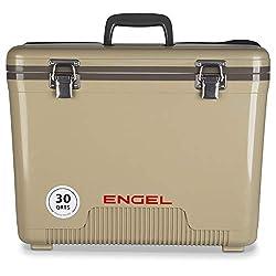 commercial ENGEL 30 Quart Hermetic Dry Box / Cooler, Tan (UC30T) 30 quart cooler