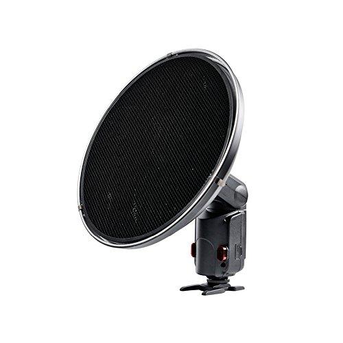 Godox - AD-S3Beauty Dish con Griglia AD-S4per Witstro Speedlite Flash AD180/ AD360+ Supporto di Flash (Montaggio Bowens) di Nuovo Formulario S Hoof, Supporto per Flash Speedlite Softbox Snoot Godox V850/ V860C / AD360 /Canon 580EX II / Nikon SB 430EX / 430EX / Yongnuo 800568EX II ecc. (Riflettore con griglia)., D1164