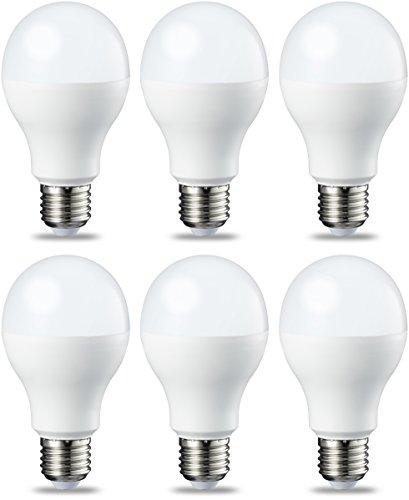 Amazon Basics E27 LED Lampe, 14W (ersetzt 100W), warmweiß, dimmbar - 6er-Pack