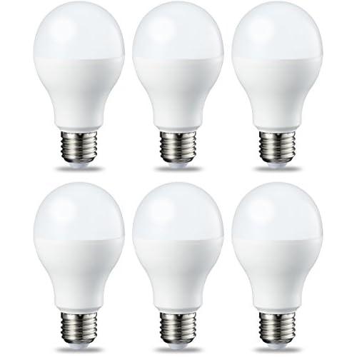 AmazonBasics Lampadina LED E27, 14W (equivalenti a 100W), Luce Bianca Calda - Pacco da 6