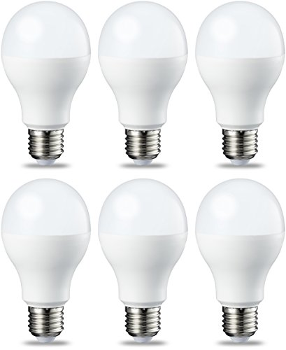 Amazon Basics Ampoule LED E27 A60 avec culot à vis, 14W (équivalent ampoule incandescente 100W), blanc chaud, dimmable - Lot de 6