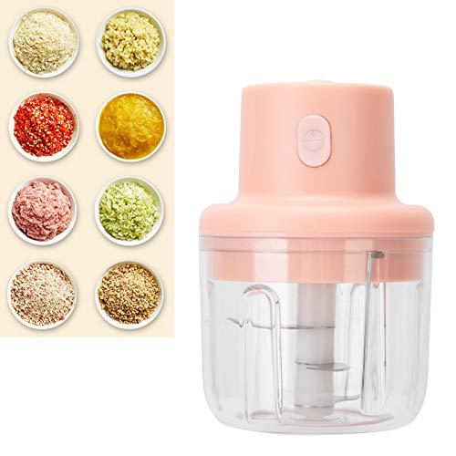 Máquina para picar comida para bebés, trituradora de carne eléctrica rosa de 250 ml, para regalos escolares, cocina, hogar