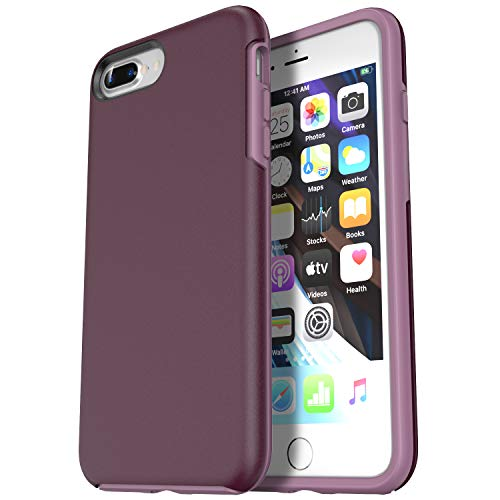 Krichit Phone Protective Case, Ongoing Series iPhone 8 Plus Cases & iPhone 7 Plus Case, Anti-Drop Shock Absorption Bumpers, Slim Sleek Design Cell Phone Cover Case (iPhone 7/8 Plus, Purple)