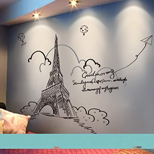 3D dreidimensional kreative Wandaufkleber Wanddekoration selbstklebend Eiffelturm Groß