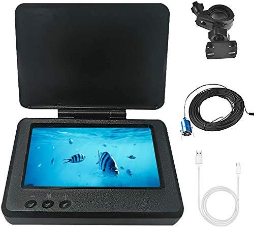 OBEST Buscador de Peces, cámara de Pesca subacuática portátil HD 1000 TVL LED infrarrojo Impermeable Visión Nocturna Cámara Gran Angular de 180 ° con Monitor LCD