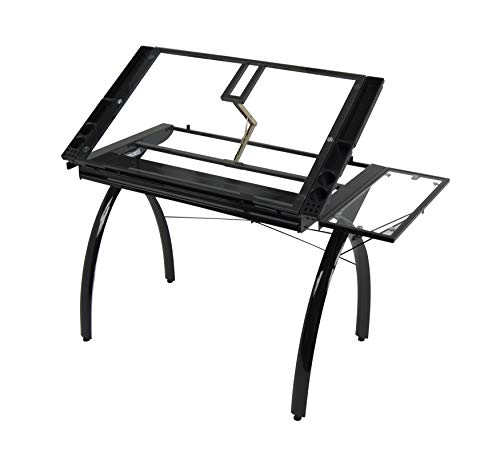 Astounding Studio Designs 10097 Futura Station With Folding Shelf Top Adjustable Drafting Craft Drawing Hobby Table Writing Studio Desk With Drawer 35 5 W X Bralicious Painted Fabric Chair Ideas Braliciousco