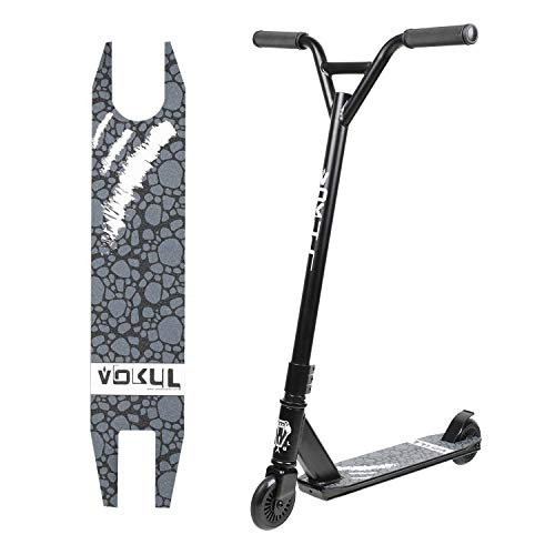 "VOKUL Pro Stunt Scooter with Stable Performance - Best Entry Level Tricks Freestyle Pro Scooter for Age 7 Up Kids,Boys,Girls - CrMo4130 Chromoly Bar - Reinforced 20"" L4.1 W Deck … … …"