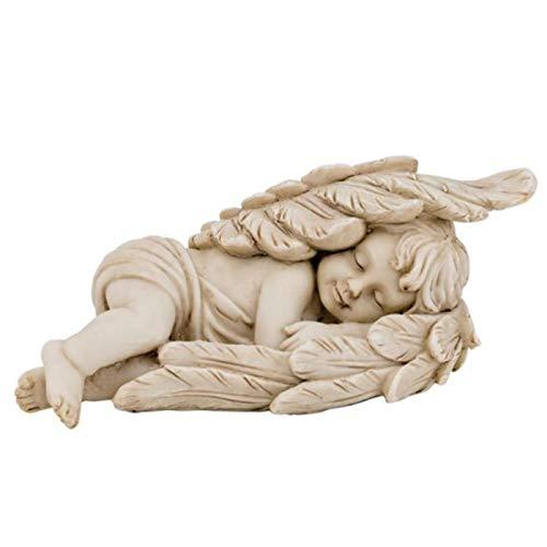 Trauer-Shop Dekorative Engelfigur schlafend liegend in Engelsflügeln. L 15 cm. Lieferung 1 Stück