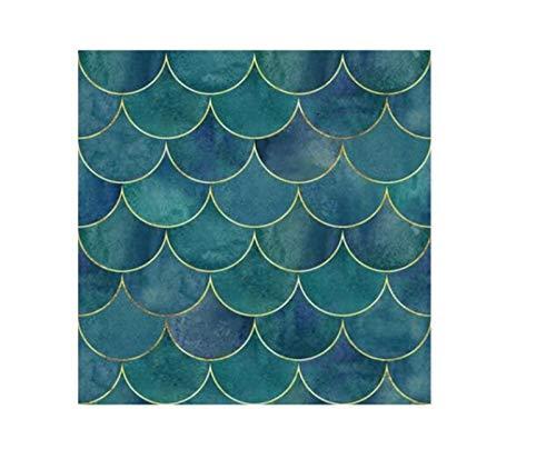 ACEACE Patrón de Escala de Pescado Creativo Pegatinas de azulejo a Prueba de Agua Pegatinas de la Pared a Prueba de Aceite Pegatina de Pared PVC Autoadhesivo DIY Fondo de Pantalla (Color : 10x10cm)