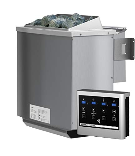 Unbekannt Karibu 4,5 kW Bio-Kombiofen Saunaofen inkl. Steuergerät Easy weiß - Sparset