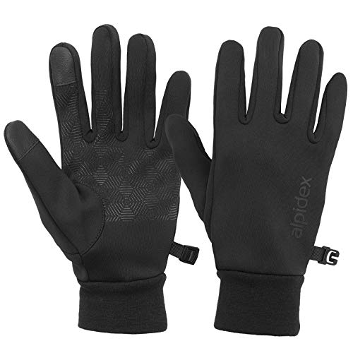 ALPIDEX rutschfeste Handschuhe Touchfunktion Warme Fahrrad Winterhandschuhe Laufhandschuhe, Größe:S
