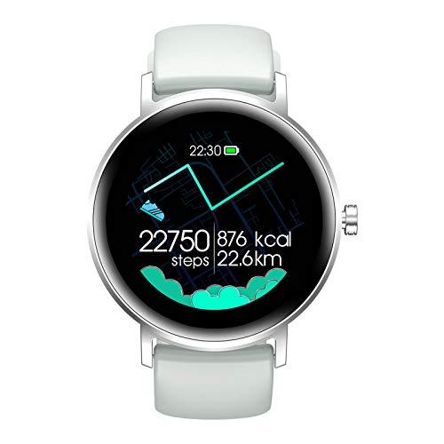 Saicowordist Pulsera deportiva resistente al agua inteligente S27 para mujer con detección de sueño, monitor de ritmo cardíaco, reloj inteligente para la salud (plateado)