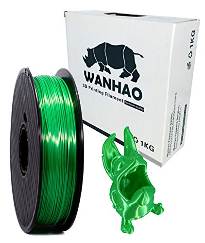 Filamento WANHAO - Filamento para impresora 3D FDM (1 kg, 1,75 mm), color verde