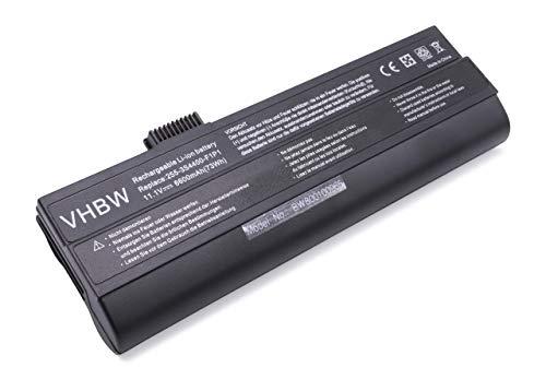vhbw Li-ION Batterie 6600mAh (11.1V) Noir pour Laptop Notebook Fujitsu-Siemens Amilo A1640, A1667, A1667G, A7640, M1405, M1424, M1425, M1425B