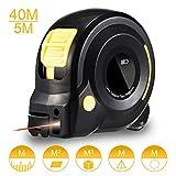 HOLULO Cinta Métrica Láser, 131Ft Medidor de distancia láser digital con pantalla LCD Telemetro Laser para medir la longitud del arco, Distancia,Zona,Volumen