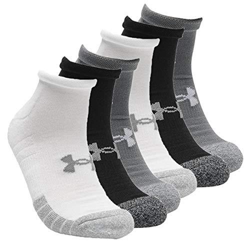 Under Armour 6 Paar HeatGear Lo Cut Sneaker Socken Unisex Kurzsocke, Farbe:Grau, Socken & Strümpfe:42-47