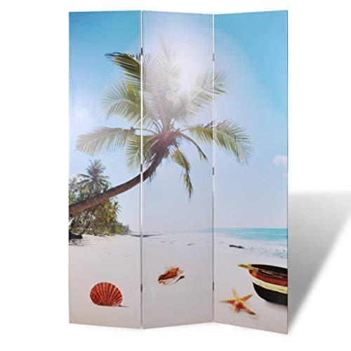 vidaXL Raumteiler Klappbar 120x170cm Strand Paravent Trennwand Spanische Wand