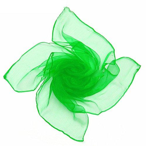 Bluelans® Foulard carré en mousseline à nouer autour du cou, jolies couleurs 70 cm Green taille unique