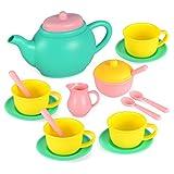 JOYIN Teeservice Set für Kinder, Geschirrset Kinderküche Zubehör (BPA-frei Phthalate-frei)