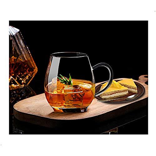 Ultra Clear Glass Tea Mug | Coffee Mug by Sun's Tea | 16 oz (470 ml) | Borosilicate - Glasses w...
