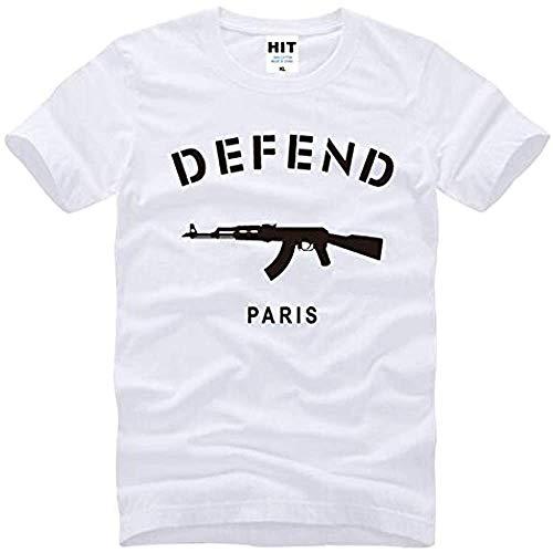 Defend Paris Ak47 Novelty Printed Mens Men T Shirt T-Shirt New New Short Sleeve Cotton Tshirt tee Camisetas Masculina Black