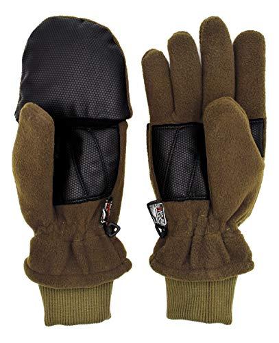 Thinsulate Fleecehandschuhe Green Hunter mit abklappbaren Fäusteln Jagdhandschuhe Schießhandschuhe Handwärmer Winter Wasserdicht (S)