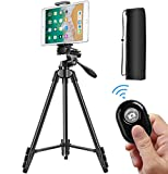 Tripod for Camera, 55 Inch Lightweight Tripod for Phone with 2 in 1 Holder for Tablet and...