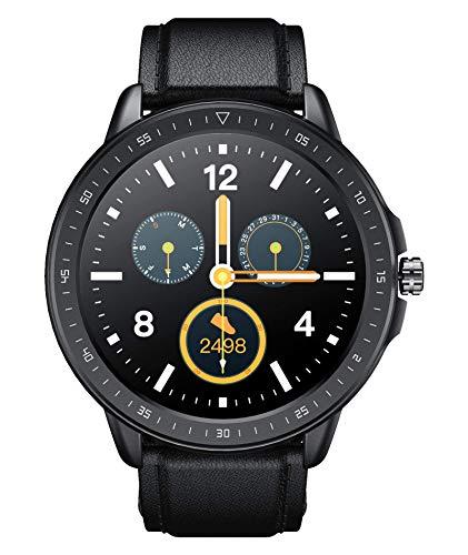 SANAG Smartwatch Uomo Smartwatch Tracker Fitness Watch Fitness Tracker Impermeabile Orologio Intelligente con Cardiofrequenzimetro, BP, Contapassi Contatore di calorie per Uomo Donna, Nero
