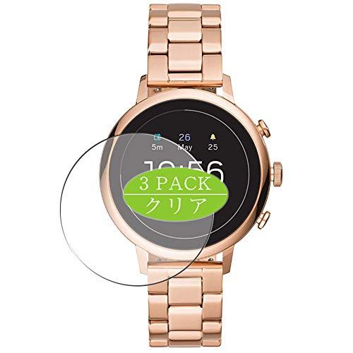 VacFun 3 Piezas Claro Protector de Pantalla, compatible con Fossil Gen 4 Q Venture HR FTW6018 Smartwatch smart watch, Screen Protector Película Protectora(Not Cristal Templado) NEW Version