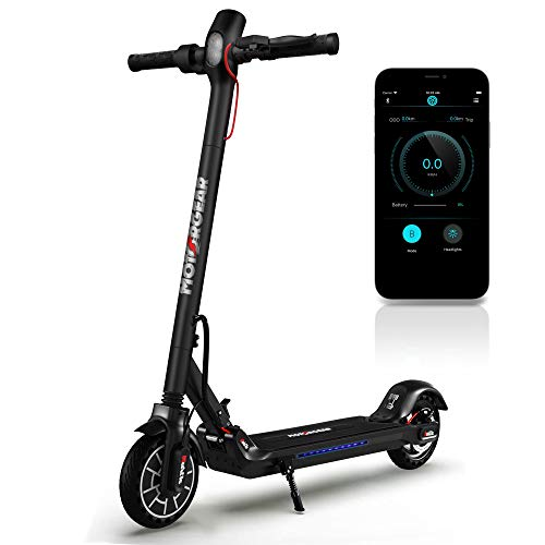 Folding Electric Scooter for Adults - 300W Brushless Motor Foldable Commuter Scooter w/ 8.5 Inch Pneumatic Tires, 3 Speed Up to 19MPH, 18 Miles, Disc Brake & ABS, for Adult & Kids - Hurtle HURES18-M5