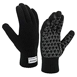 top rated ViGrace winter warm touchscreen gloves for men and women with touchscreen on fleece lining, knit non-slip … 2021
