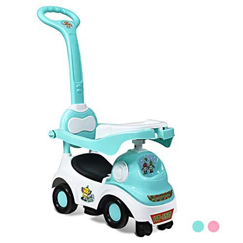 COSTWAY 3-in-1 Rutscherauto, Bobby Car mit Stauraum, Kinderrutscher, Kinderauto mit Spieluhr und Hupe, Rutscherfahrzeug, Kinderspielzeug geeignet für Kinder im Alter von 18-72 Monaten (Grün)