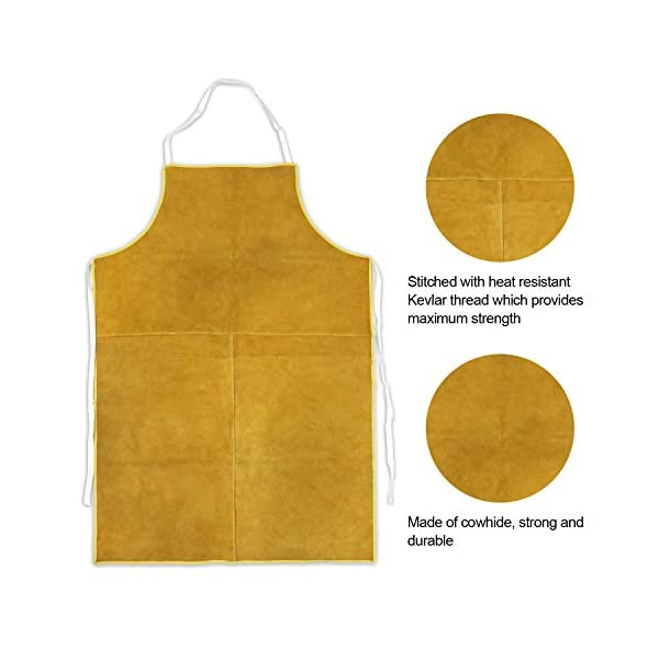 Mrcartool Leather Welding Work Apron 3