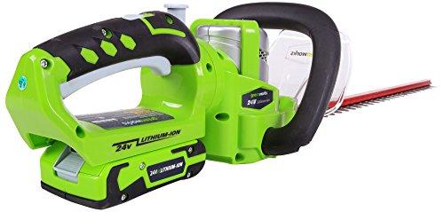 Greenworks Tools set cortasetos sin cable de 24 V de litio-ion, verde