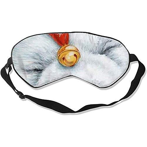 Blindfold,Tragen Eines Weihnachtshut-Hundes Stilvolle Bunte Augenabdeckungen Für Reise-Yoga-Nickerchen