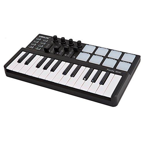 Kalaok Worlde Panda Mini Portable Mini 25-Tasten USB-Tastatur und Drum Pad MIDI-Controller